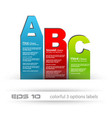 Abc banner tags vector