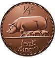 Irish money cooper coin vector