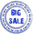 Blue stamp for big sale vector