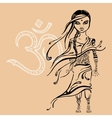Little indian girl hand drawn vector