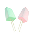 Two flavored popsicle ice creams vector