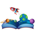Rocket book vector