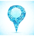 Abstract triangle blue map location pointer vector