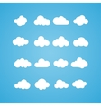 Clouds collection concept - computing web and app vector