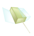 A flavored popsicle ice cream on white background vector