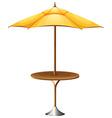 A table with an umbrella vector