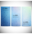 Set of vertical banners abstract blue background vector