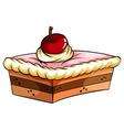 A delicious cake vector