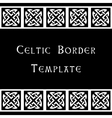 Celtic border template vector