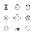 Time management clock icons set vector