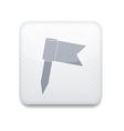 Flag white icon vector