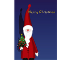 Santa claus and christmas tree vector