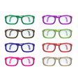 Set of color glasses vector