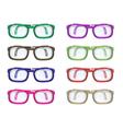 Set of color glasses vector