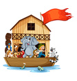 Animals on boat vector