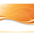 Sunburst background in orange color textured vector