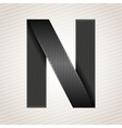 Letter metal ribbon - n vector