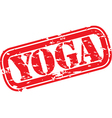 Yoga stamp vector