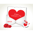 Envelope love valentine day vector