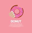 Hand holding a tasty doughnut vector