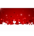 Hearts background for you design vector