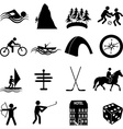 Adventure sports icons set vector