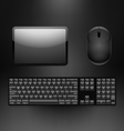 Tablet keyboard mouse vector