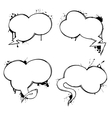 Set of chat ink grunge bubbles vector
