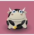 Cute baby cow vector