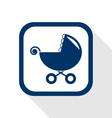 Stroller flat icon vector