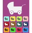 Baby pram - icon isolated vector