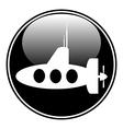 Submarine button vector