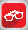 Glasses button design vector