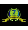 7 years celebration anniversary label vector