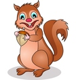 Squirrel cartoon vector