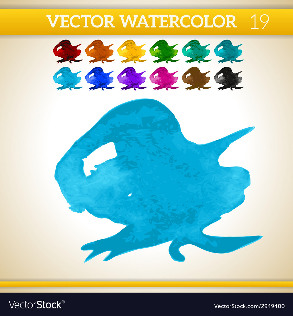 Blue watercolor artistic splash for design and vector | Price: 1 Credit (USD $1)