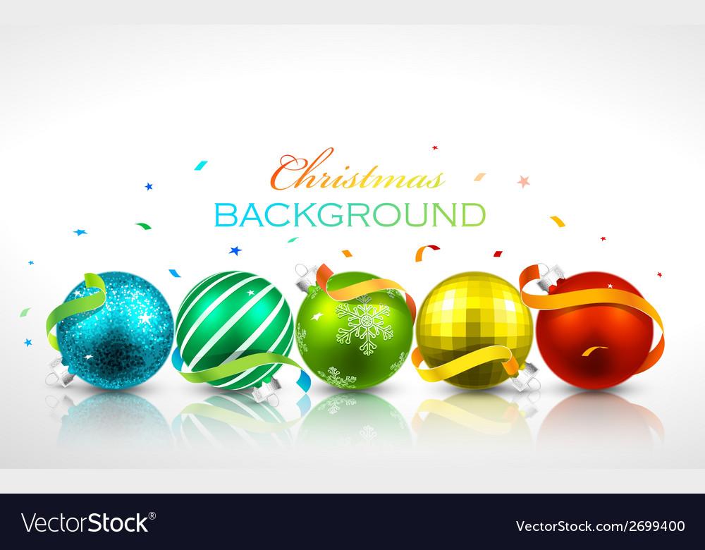 Christmas balls with reflection vector