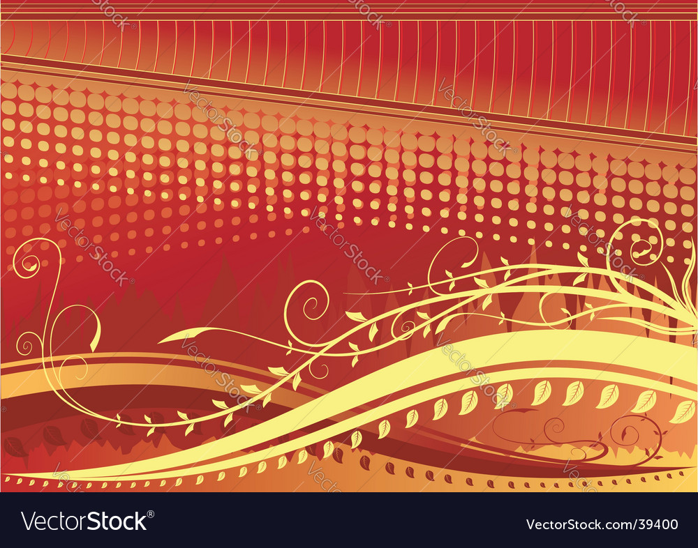 Floral background red vector | Price: 1 Credit (USD $1)