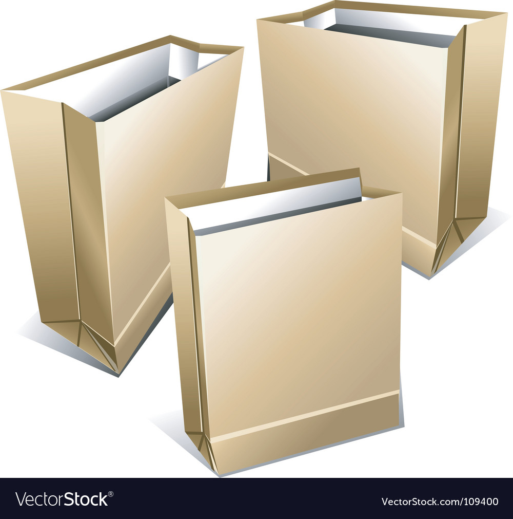 Foodstuff paper packages vector | Price: 1 Credit (USD $1)