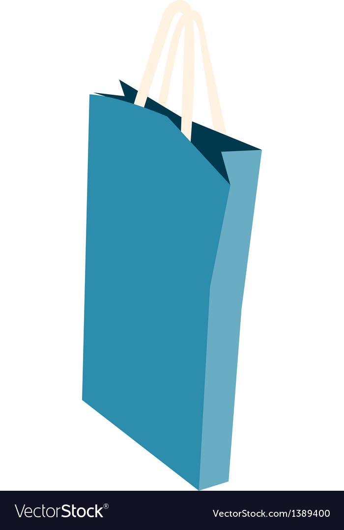 Icon paper bag vector