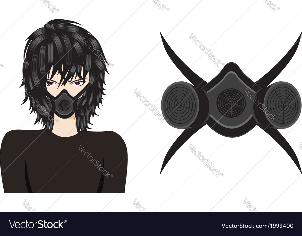 Man in respirator vector | Price: 1 Credit (USD $1)