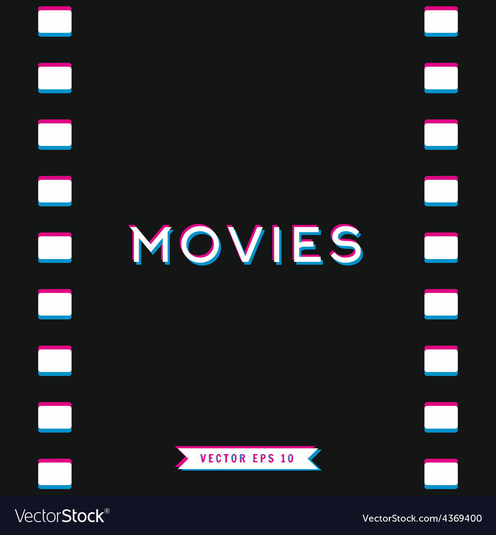 Motion picture film in 3d vector | Price: 1 Credit (USD $1)