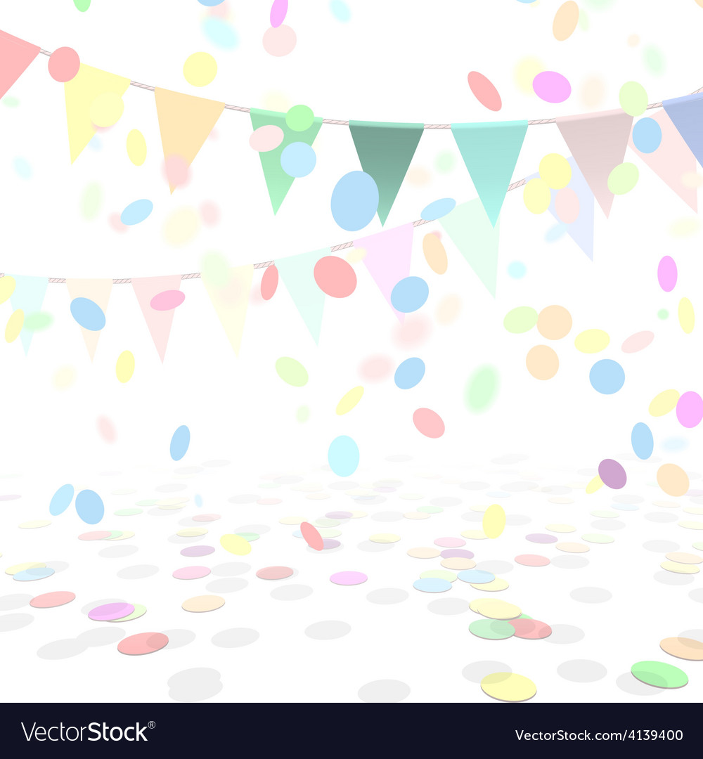 Party background with a colorful confetti and vector | Price: 1 Credit (USD $1)