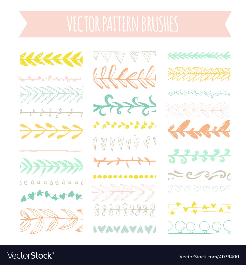 Pattern brushes vector | Price: 1 Credit (USD $1)