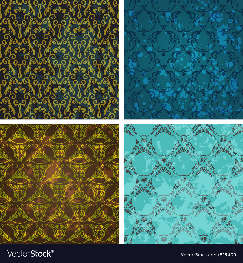 Retro style wallpaper vector | Price: 1 Credit (USD $1)