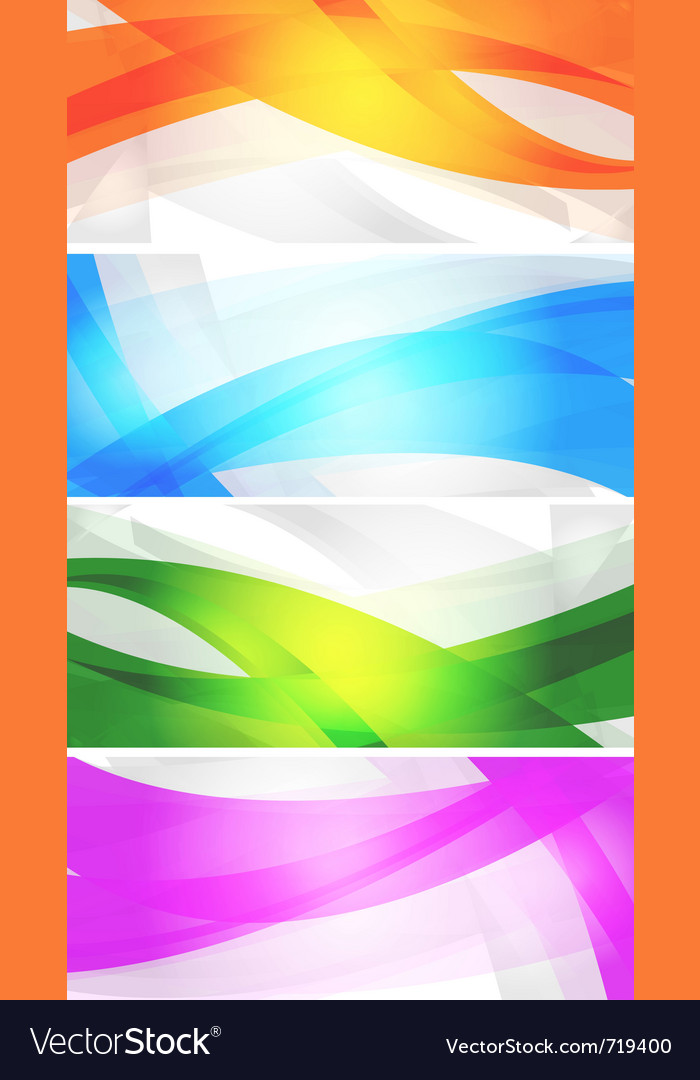 Set of vibrant banners vector | Price: 1 Credit (USD $1)