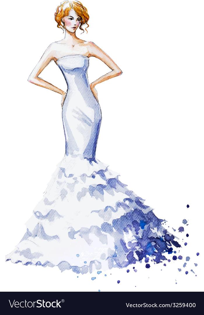 Watercolor fashion vector