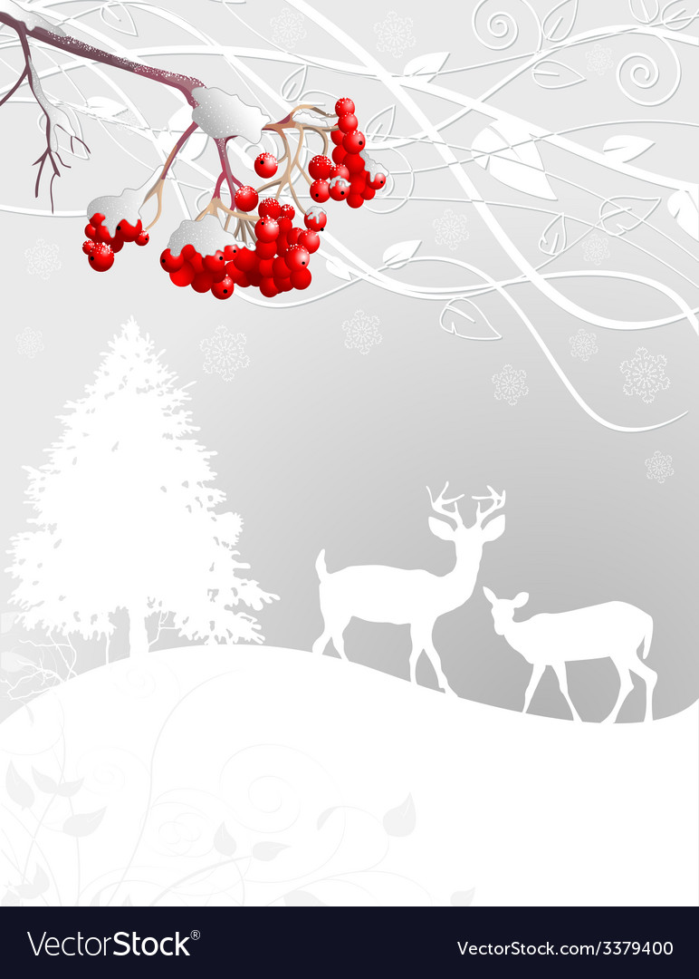 Winter scene vector | Price: 1 Credit (USD $1)