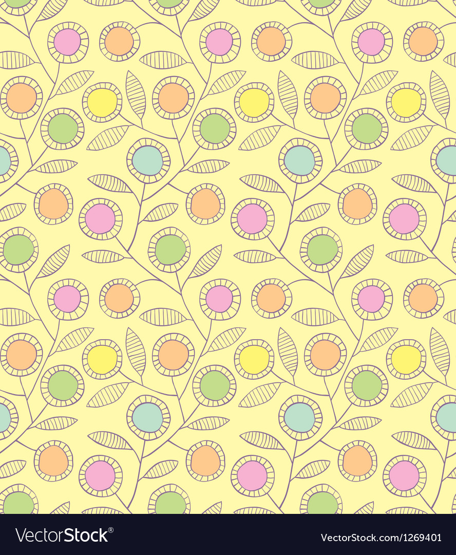 Abstract floral seamless background vector | Price: 1 Credit (USD $1)