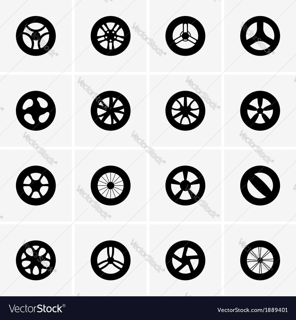 Baby strollers wheels vector